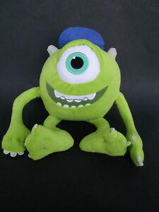 Disney Monsters Inc University Mike Wazowski Plush Green Pixar Wearing Hat 13 Ebay
