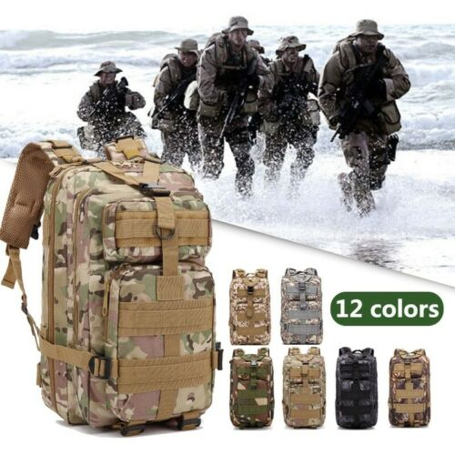Waterproof Military Tactical Army Backpack Assault Bag Rucksack Camping Outdoor