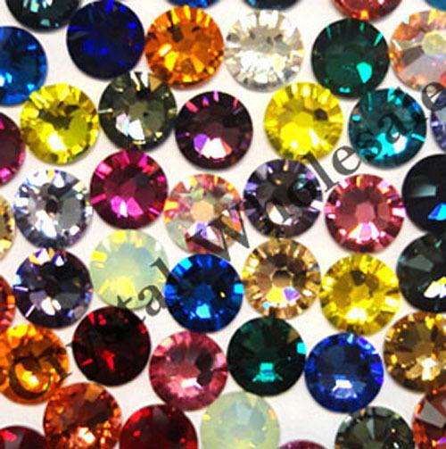 144 Swarovski 2058 9ss crystal flatback rhinestones nail art ss9 mix colors