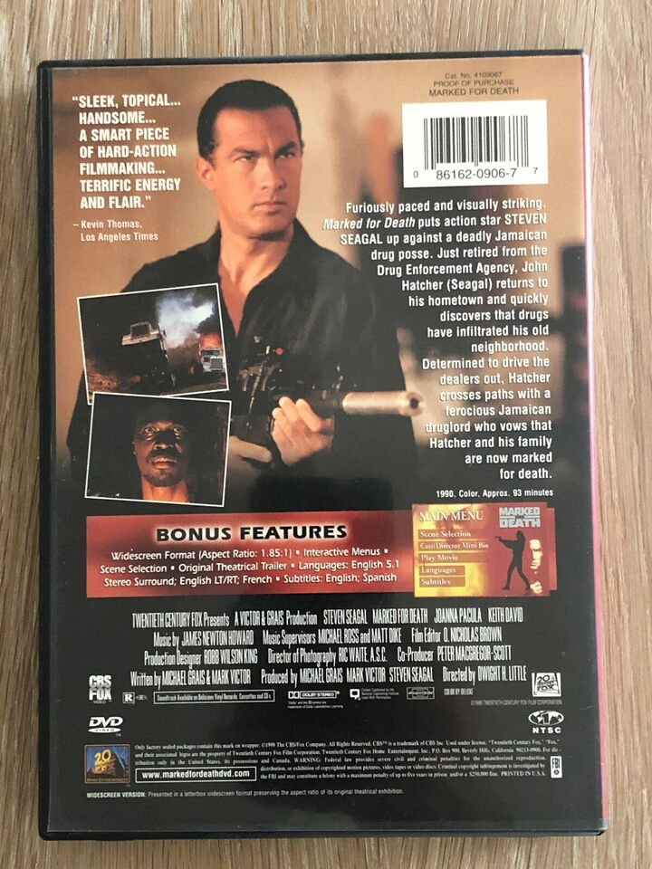 Marked For Death, DVD, action
