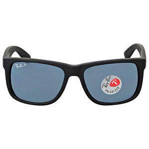 Ray-Ban 4165 622 2v Justin Wayfarer Sunglasses Black Blue Polarized 54mm cedb277ae0