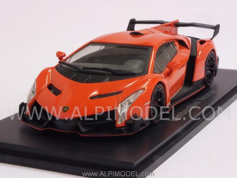 Lamborghini Veneno 2013 Orange 1 43 KYOSHO 5571OR