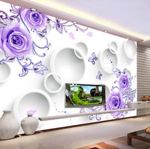 3D Sweet Purple pink 7 Wall Paper Murals Wall Print Wall Wallpaper Mural AU Kyra