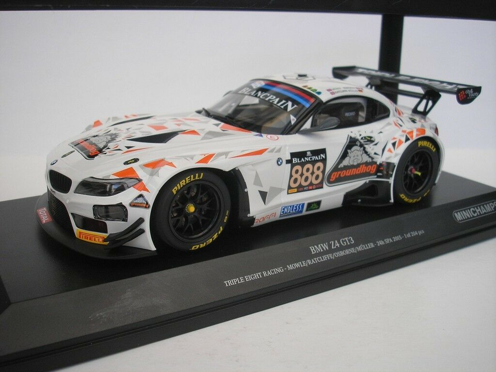 BMW Z4 gt3 gt3 gt3 H Spa 2015 1   18 mini campeón 151, 152, 388 neu 091