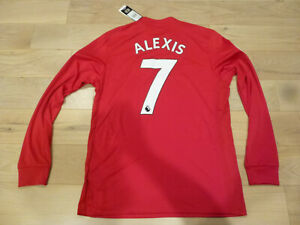 pretty nice d1187 46706 Details about Adidas 17/18 Manchester United #7 Alexis Sanchez Red Long  Sleeves Home Jersey M