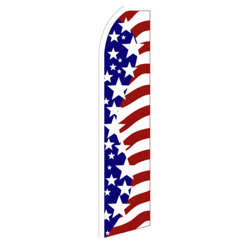 USA BIG STARS Advertising Flutter Feather Sign Swooper Banner Flag Only Special