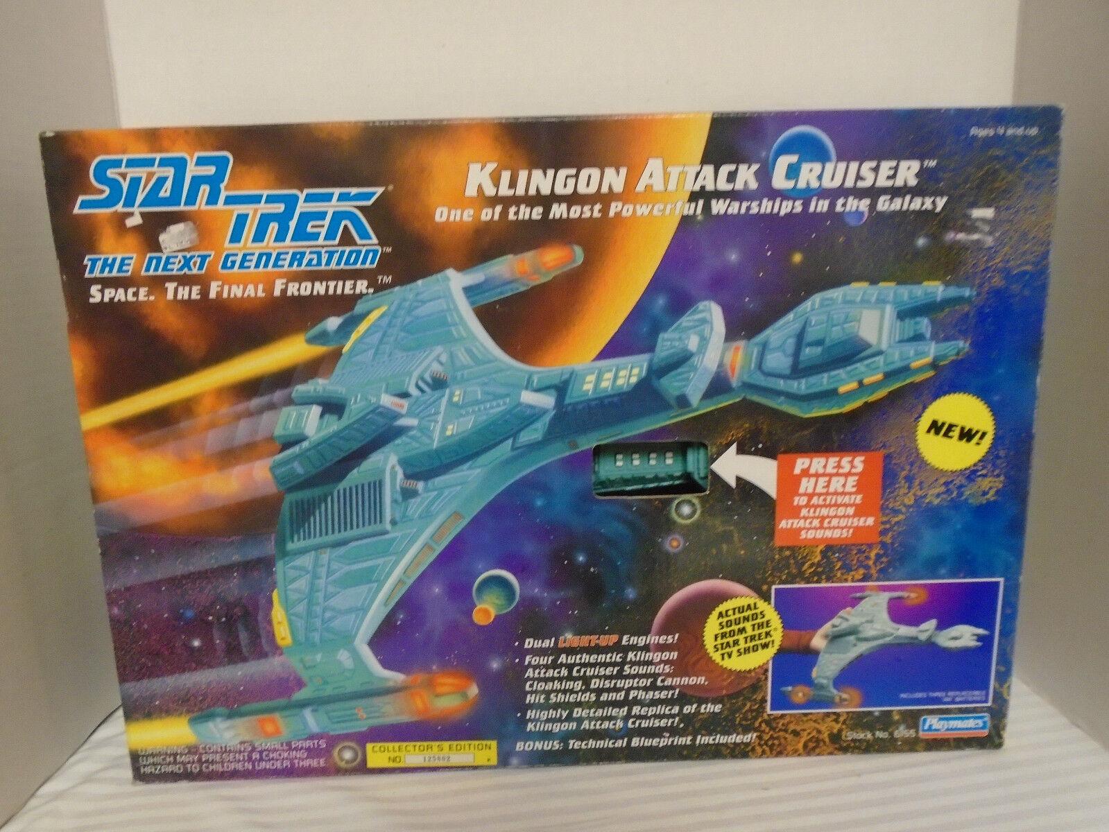 Star Trek La Nueva Generación De Ataque Klingon Cruiser By Playmates