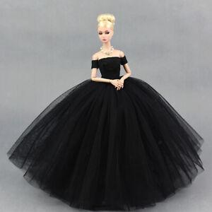 Detalles De Vestido De Novia Elegante Del Cordón Negro Del Hombro Con El Velo Para La