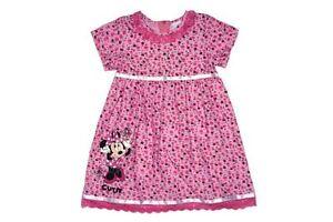 Minnie Mouse Süsses Cordkleid Baumwolle Gr 68/74/80/86/92/98/104/110 Baby Kleider Honig Neu