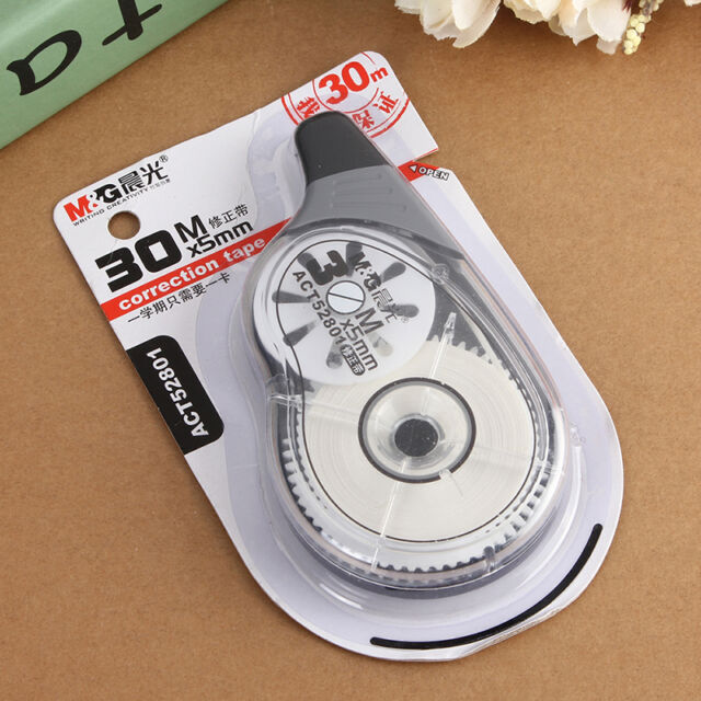 Fashion Roller Correction Tape White Out 30m Long  Stationery Student Black