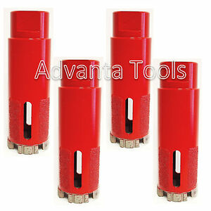 1-3//8 Dry//Wet Vaccum Brazed Protection Laser Welded Diamond Core Drill Bit for Dry Drilling Granite and Marble