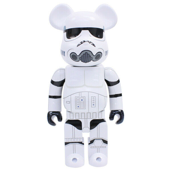 Medicom Bearbrick Weiß Storm Trooper 400% Chrome Version 2015