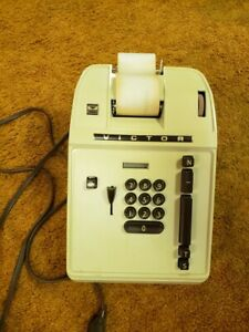 Vintage Victor Add Machine With Cover