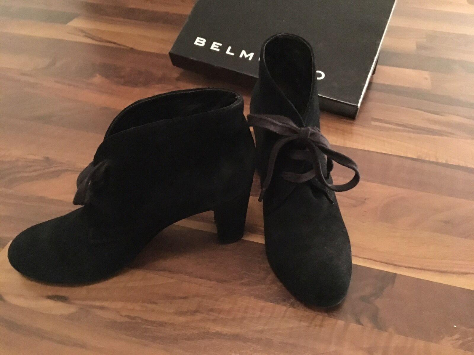 Belmondo Wildleder Stiefeletten Bootie Bootie Stiefeletten schwarz 38 bfbcc8