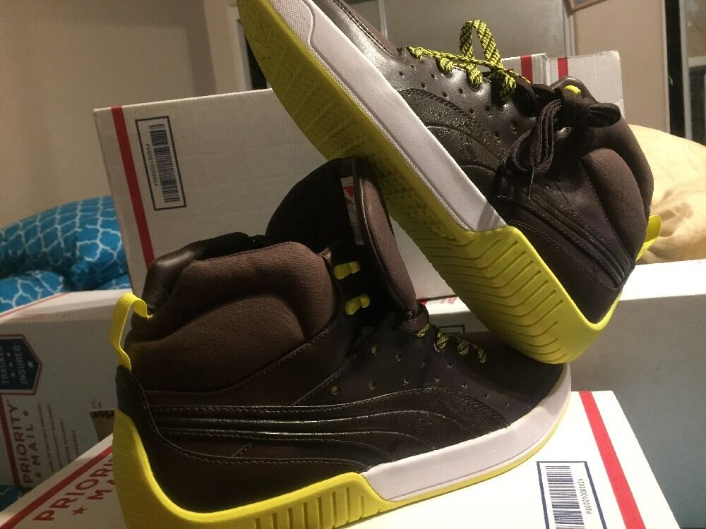 Men's Puma Street Mid  Sneakers, Halloween Halloween Halloween Edition New  11m Brown  Yellow Accent f096a7