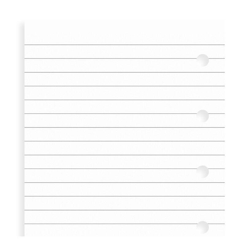 Filofax Einlage Pocket weißes liniertes Notizpapier