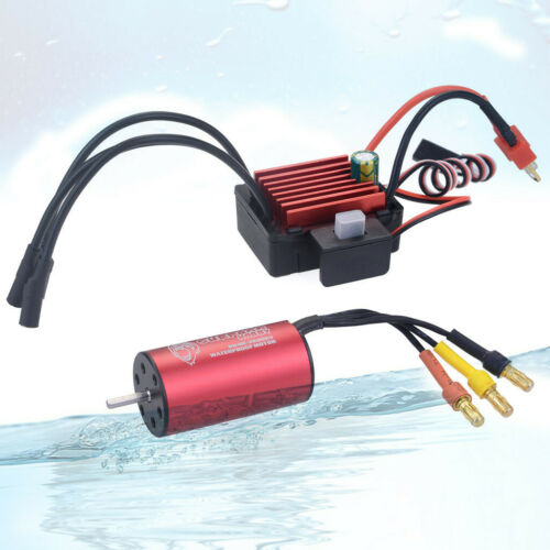 SURPASS HOBBY 4076KV Brushless Motor /& 25A ESC Combo Set for 1//16 1//18 RC Car M8