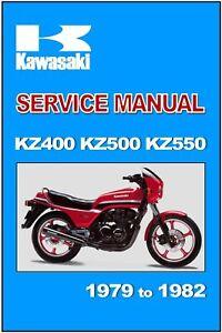 Kawasaki Workshop Manual Kz400 Z400 Z400j 1979 1980 1981 1982 1983 Service Ebay