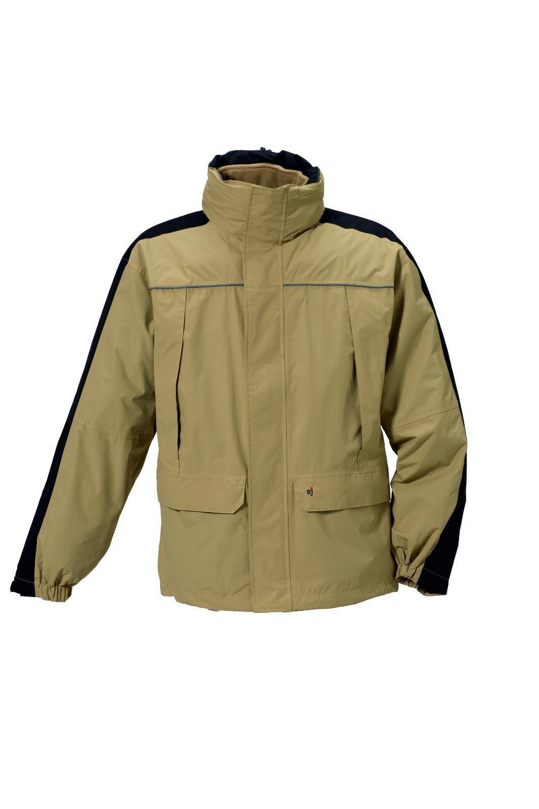 SJ función chaqueta j409 caqui negro Al aire libre caballeros 3in1 chaqueta con innenfleece
