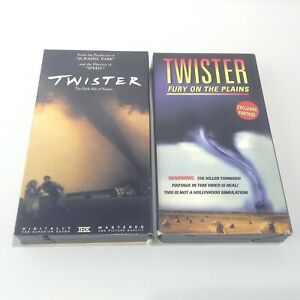 LOT 2 VHS Tapes Twister (Bill Paxton & Helen Hunt) + Twister Fury On The Plains