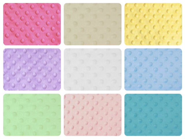 "Dimple Dot Popcorn Cuddle Soft Fleece Fabric 150cm/59"" wide per metre/half"