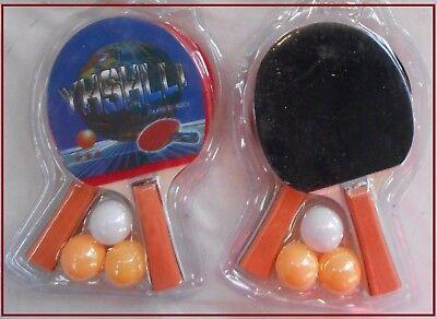 """1 Ou 2 Lots De """" 2 Raquettes De Ping-pong + 3 Balles """" - Tennis De Table - Neuf Regalo Ideale Per Tutte Le Occasioni"""