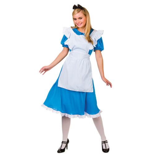 Storybook Alice Wonderland Fairytale Storybook Adults Womens Fancy Dress Costume