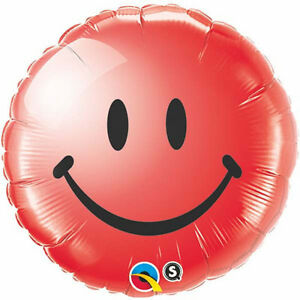 SMILE-FACE-BALLOON-18-034-HAPPY-BIRTHDAY-GET-WELL-RED-QUALATEX-FOIL-BALLOON