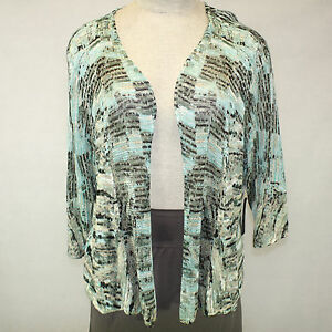 d3e90bf280c NEW Nic + Zoe Woman Nordstrom Plus Size Open Front Cardigan 3X