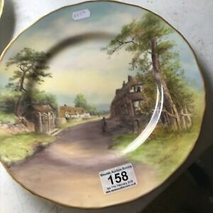 """Royal Worcester Cabinet Plate Singed T Nickolls 11"""""""