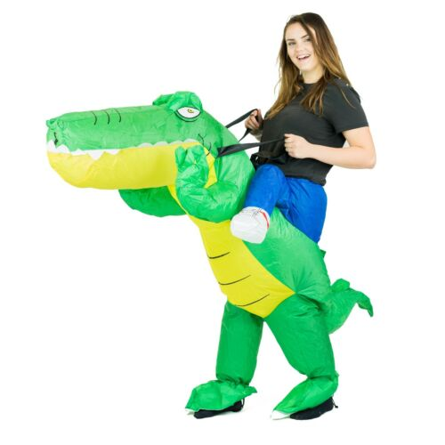 Adult Inflatable Funny Blow Up Fancy Dress Carry On Ride Costume Outfit Fat Suit
