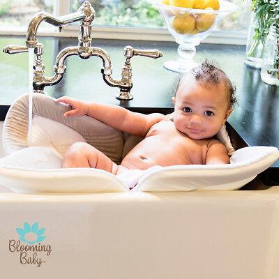 Bathing Mat Gray Flower Bath Blooming Bath Lotus Baby Bath