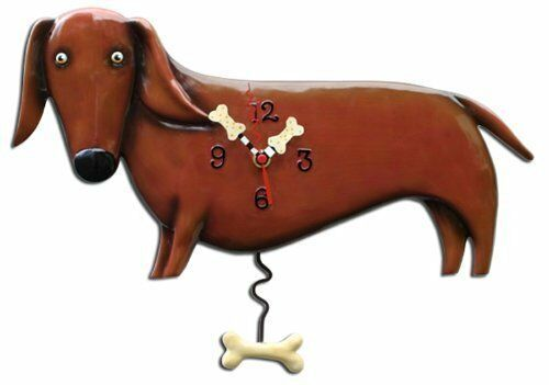 Allen Designs Oscar the Dachshund Pendulum Wall Clock