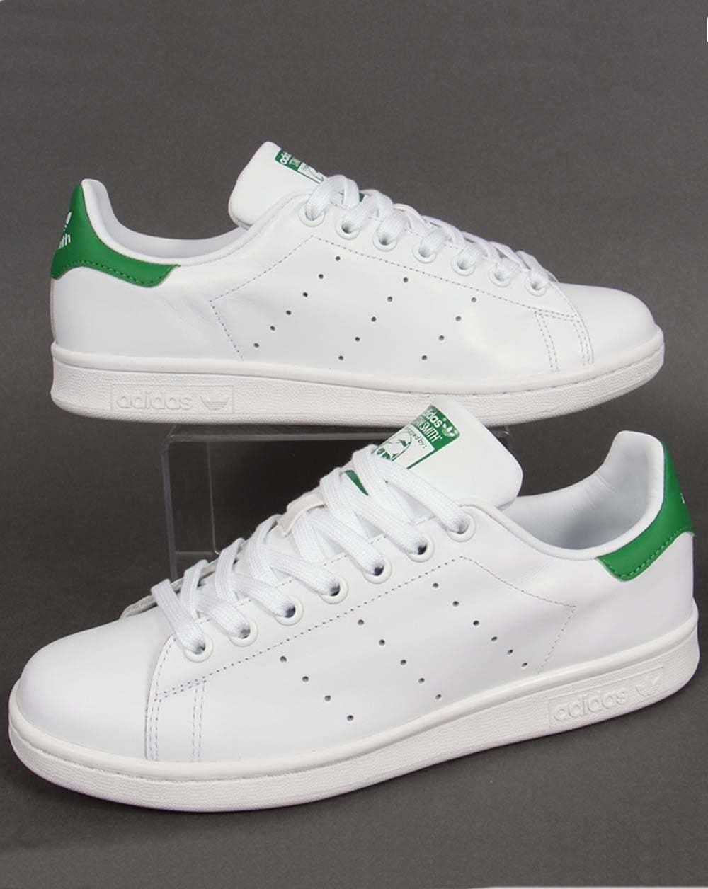 Adidas Originals Originals Originals Stan Smith (cuero lleno - blancoooo y verde-BNIBWT ef5671