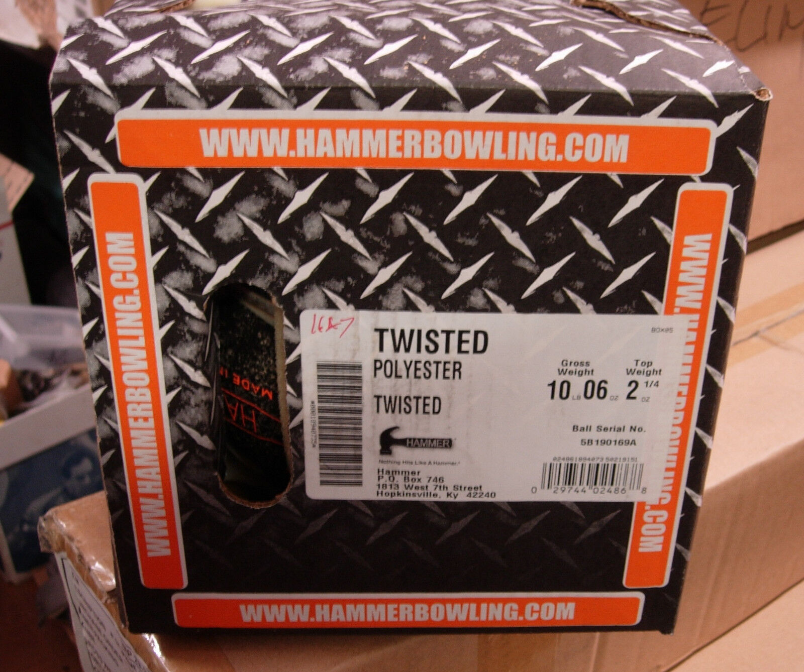 10oz NIB Hammer TWISTED Tough Clear Polyester Bowling Ball