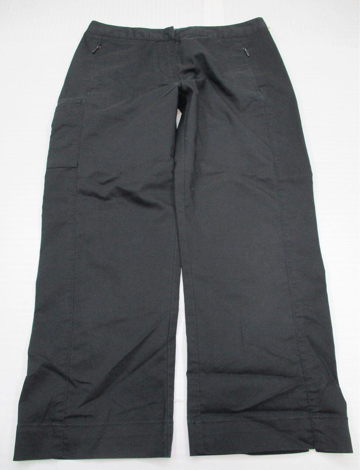 ADIDAS # SH8092 Női méret 4 pamut STRETCH Flat Front Black Capri nadrág