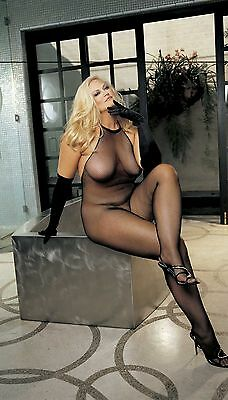 Sexy Fishnet Lace Top Halter Bodystocking Open Crotch Plus Size Shirley X90001