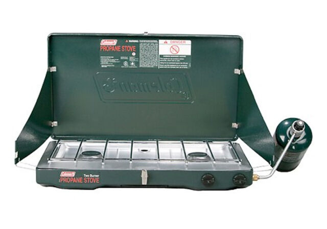 NEW! COLEMAN Portable Outdoor Camping Large 2-Burner PerfectFlow Propane Stove