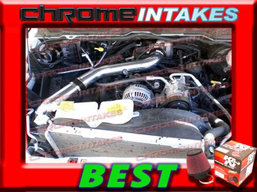 K/&N+BLACK RED 2008-2010 DODGE RAM 1500 4.7L V8 FULL COLD AIR INTAKE KIT STG3