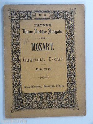 mini pocket score MOZART c maj quartet kv 465
