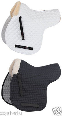 NEW Shires Faux Fleece Wool Half Lined Horse Equestrian Numnah Saddle Pad Cloth