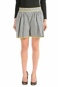 Dsquared2-Multi-Color-Checkered-Women-039-s-Casual-Shorts-US-XS-IT-38