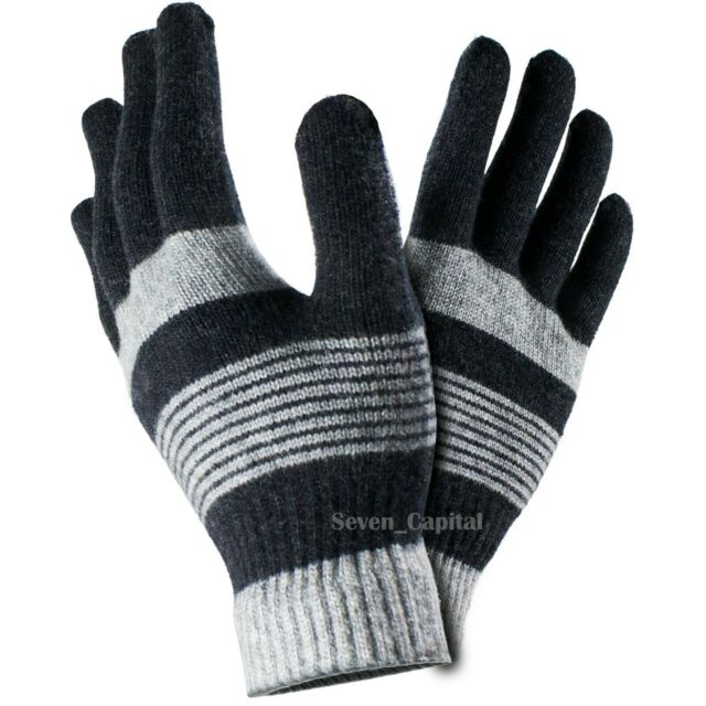 Nicce Pax Knitted Gloves Black