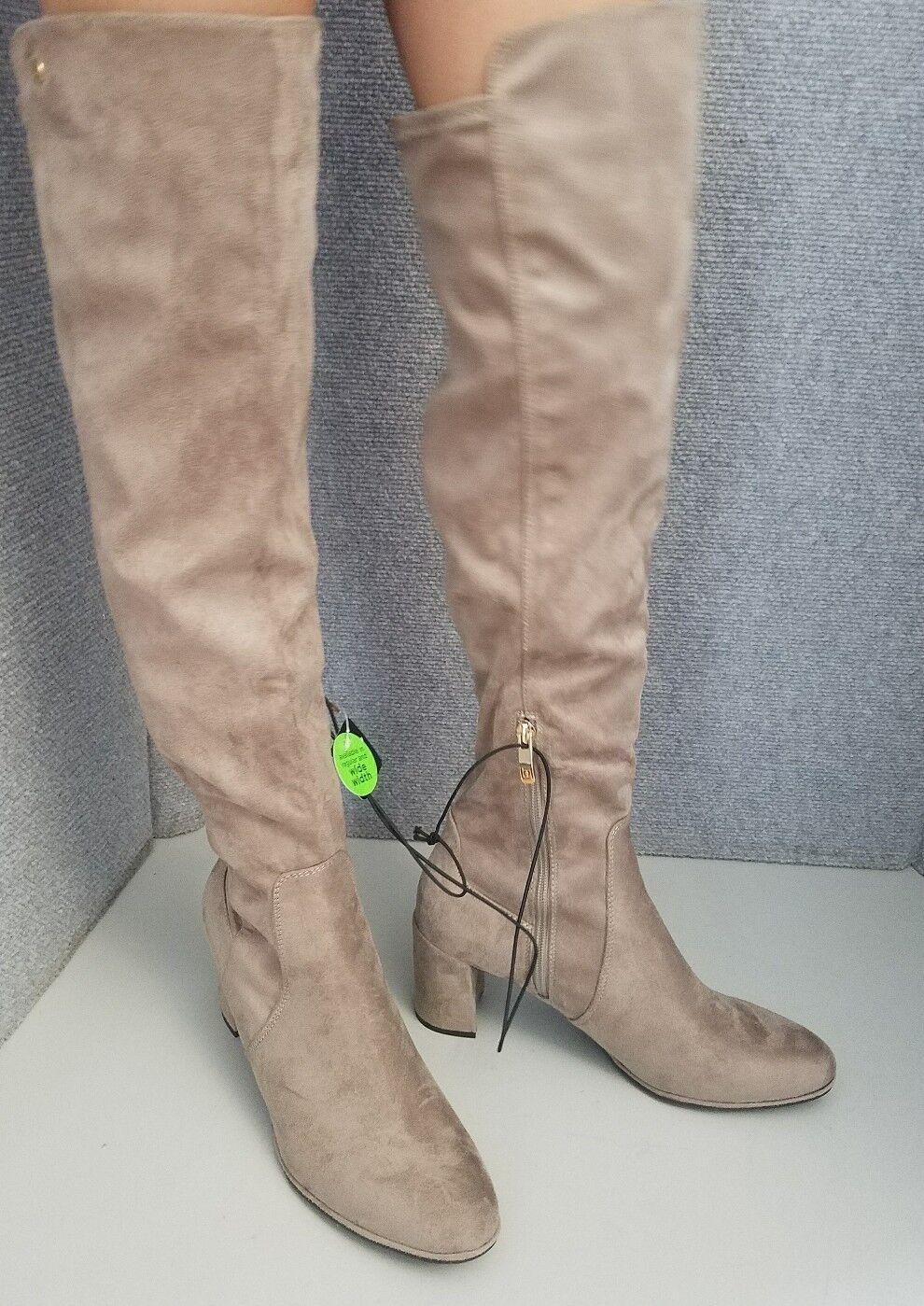Liz Claiborne Leyla Taupe Au-dessus Du Genou Femmes Bottes Chaussures Taille 9.5 M
