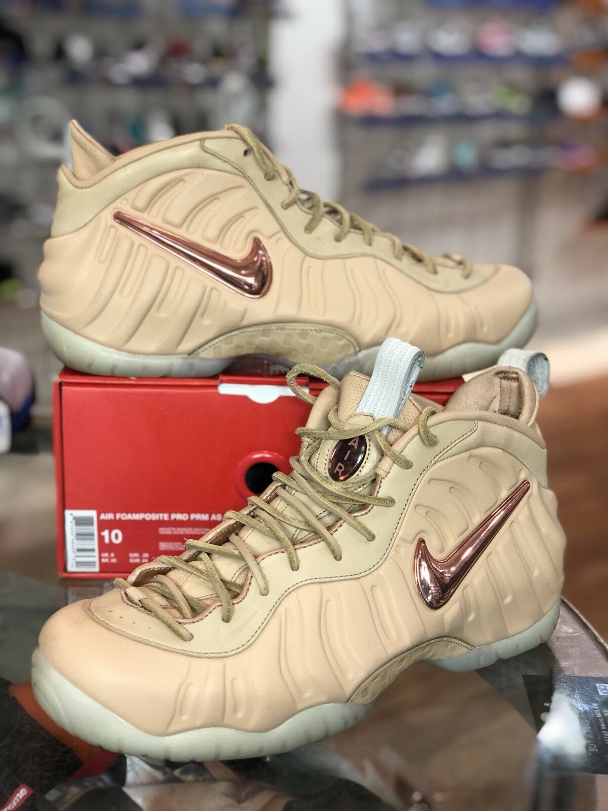 NIKE AIR FOAMPOSITE PRO PREMIUM ALL STAR QS VACHETTA TAN 920377-200 SIZE 10