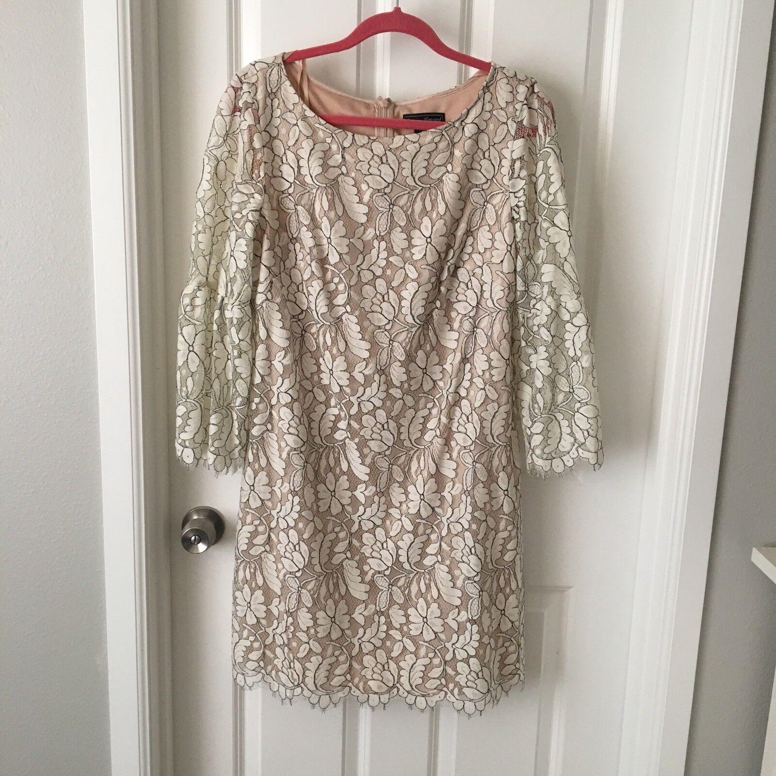 Jessica Howard schwarz And Weiß Lace Dress 12
