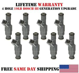Pack//8 OEM Bosch III fuel injectors for Ford Expedition 1997-2002 4.6//5.4L 4Hole