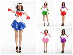 Sailor Moon Costume Anime Superhero Cosplay Japanese ...