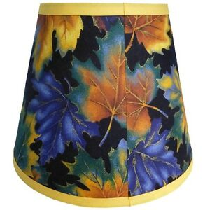 Autumn-Fall-Leaves-Custom-Made-Fabric-Handcrafted-Lamp-Shade-6-x-10-x-8