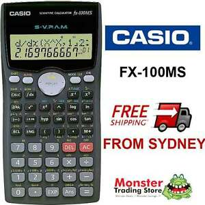 Casio scientific calculator fx-100 fx100 fx100ms warranty aussie.